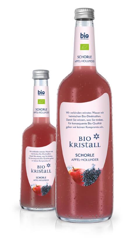 BioKristall Schorle Apfel-Holunder