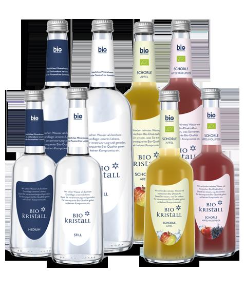 Bio-Kristall-Bio-Mineralwasser-Produkte