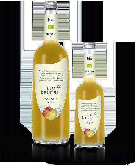 Bio-Kristall-Bio-Mineralwasser-Schorle-Apfel